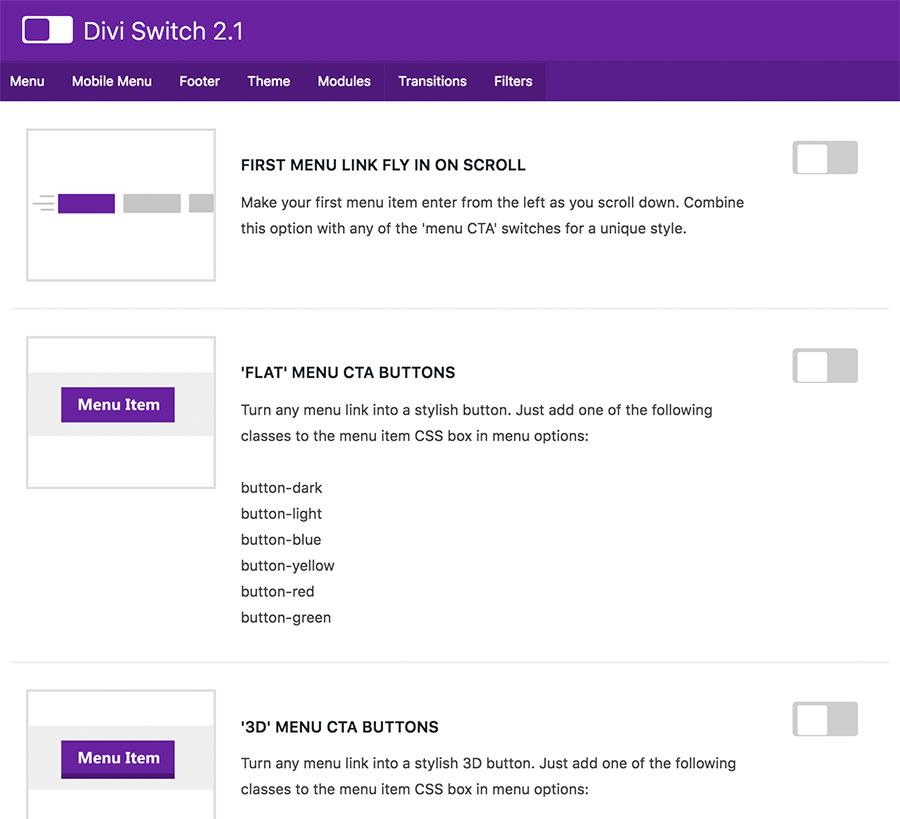 Die besten Plugins für Divi - Divi Switch - Helping Nomads