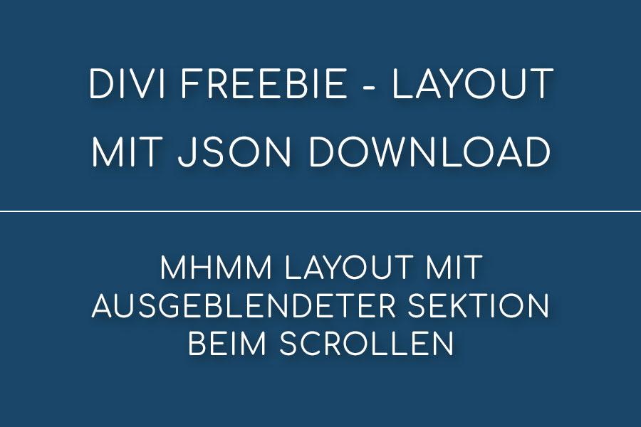 Divi Freebie für das MHMM Plugin – Header mit ausgeblendeter Sektion beim Scrollen